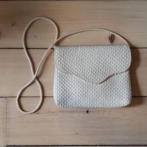 Vintage 1988 Avon Crossbody Straw Woven Purse